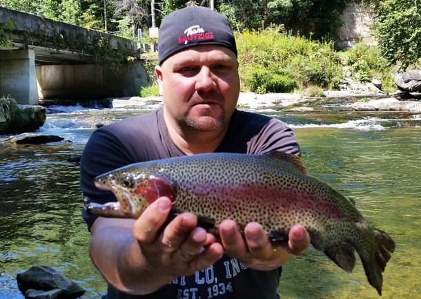 Cherokee north carolina sporting epic trout bite pautzke for Cherokee trout fishing