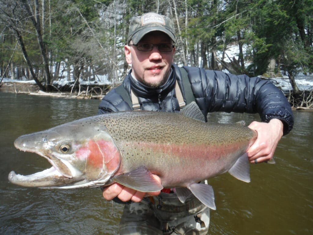 Spring wintry conditions extending northern michigan for Michigan steelhead fishing report