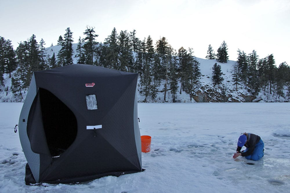 Get the scoop on ice fishing in southern bc pautzke bait co for Ice fishing scoop