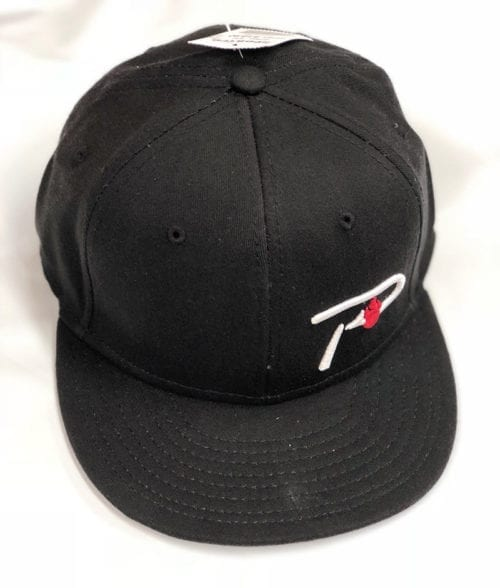 hat-flat bill P Hook-black